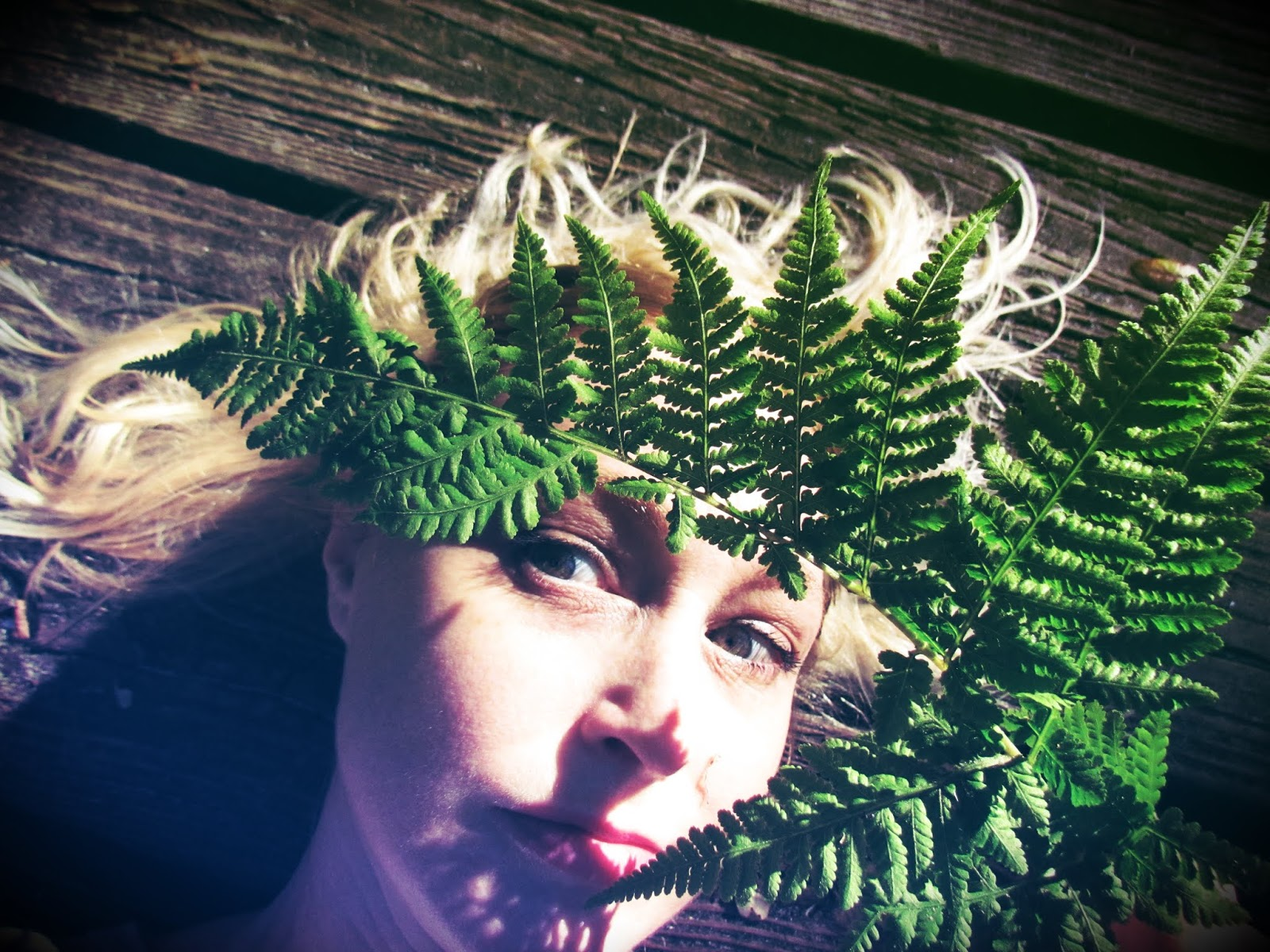 Earth Goddess Fern Nature Crown and Fern Leaf Headdress Made From Raw Materials of Nature