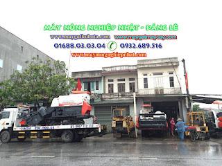 Xuất bán giao máy gặt kubota thái lan dc70 ở tại Lạng Giang Bắc Giang
