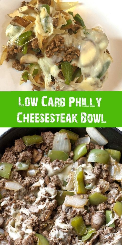 Low Cαrb Philly Cheesesteαk Bowl