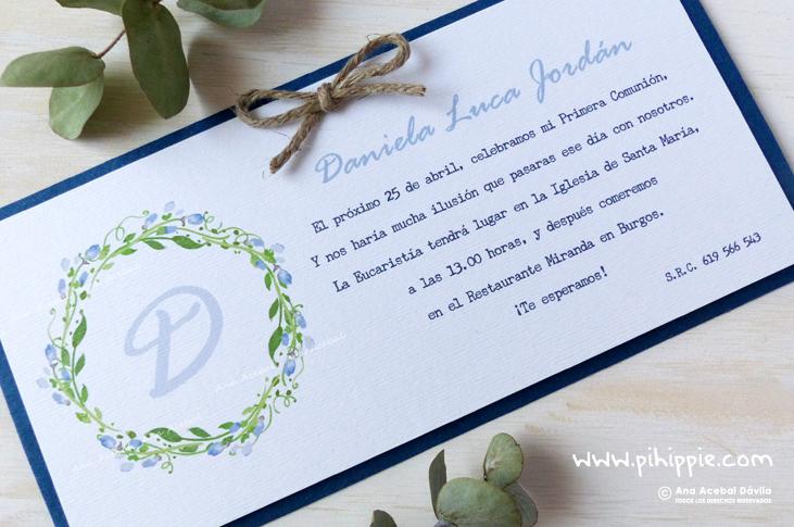 invitacion primera comunion personalizada