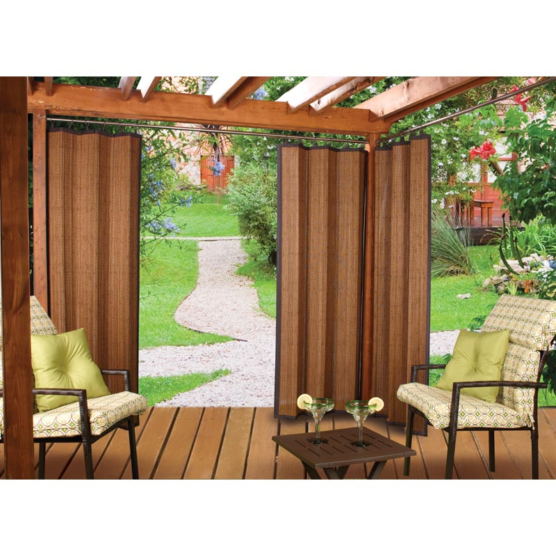 Bamboo Outdoor Curtain | Bamboo Products Photo