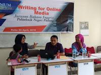 50 Mahasiswa Politeknik Negeri Padang Belajar Menulis Untuk Media Online