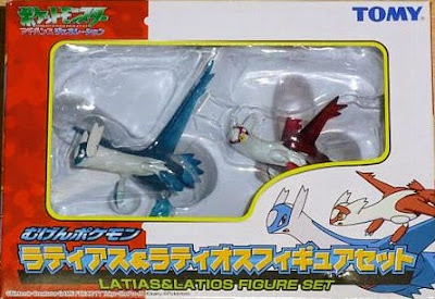 Latias Latios clear figures set Tomy Monster Collection 2005 Movie promo