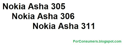 Nokia Asha smartphones