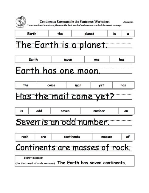 Free Earth Day Worksheets For 2nd Grade