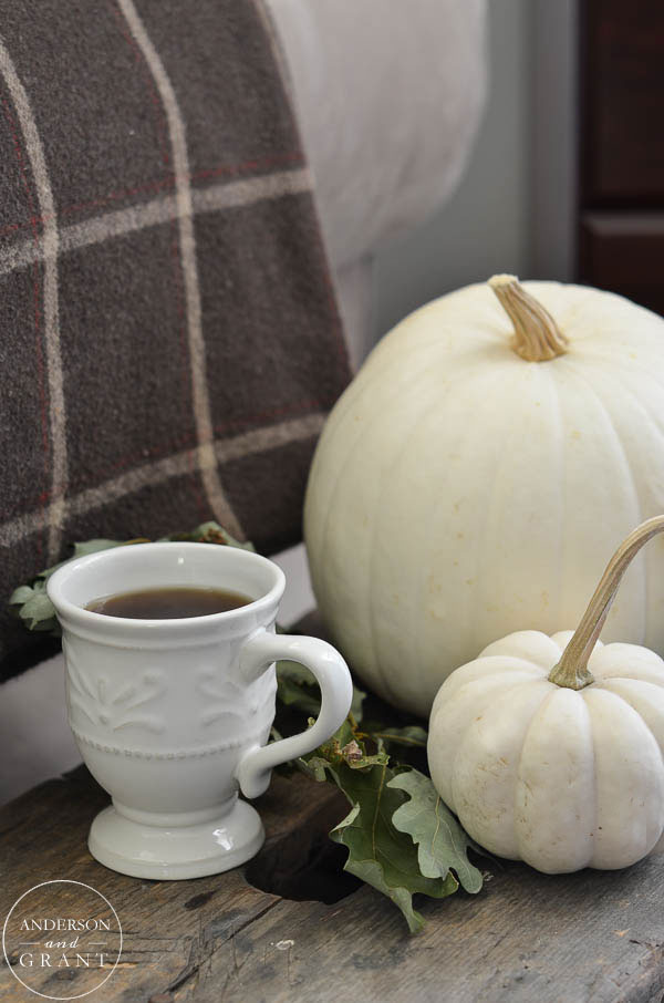 Pumpkin spice coffee in the fall