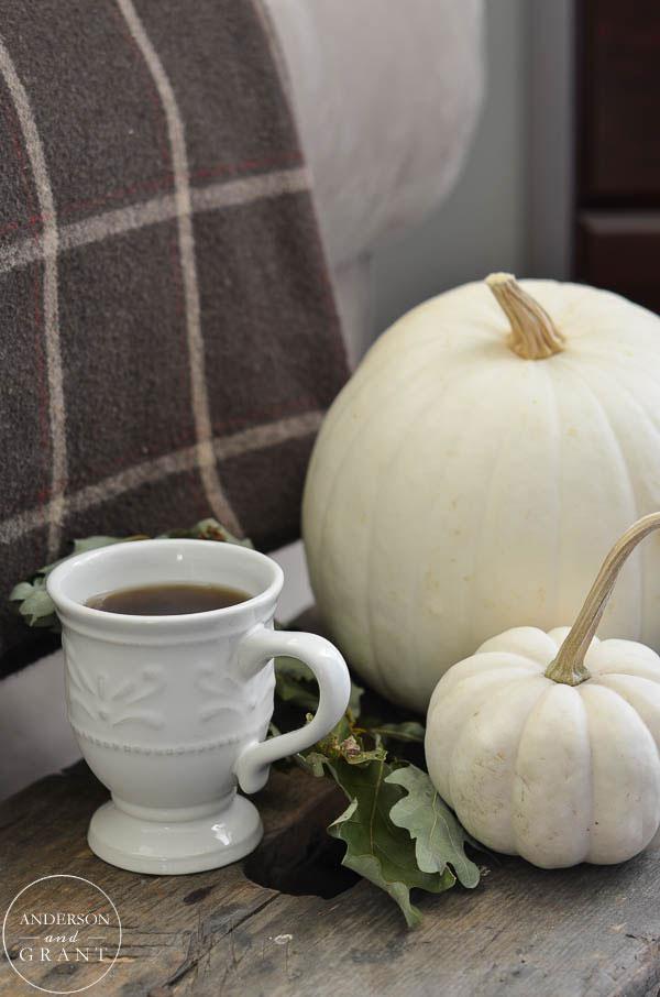 Pumpkin spice coffee in the fall
