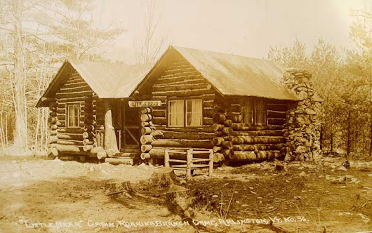 Some postcards of the old Roaring Branch cabins.