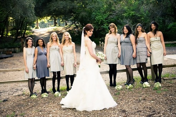 Violet Hills Weddings Events Bridesmaids In Tights