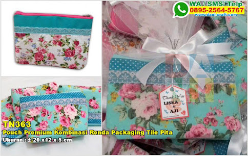 Pouch Premium Kombinasi Renda Packaging Tile Pita