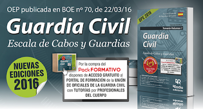 Temarios Guardia Civil. Escala de Cabos y Guardias. Disponibles en Librería Cilsa de Alicante.