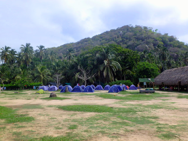 El Cabo San Juan campsite in Tayrona National Park, Colombia