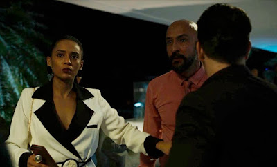 Vitória (Taís Araujo) defende Davi (Vladimir Brichta) em 'Amor de Mãe' — Foto: Globo