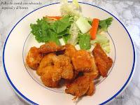 Pollo del corral con rebozado especial y al horno