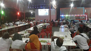 PSI Aceh Tamiang Gelar Nobar Debat Capres, Ratusan Orang Hadir Meski Hujan Deras