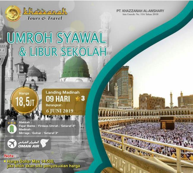 paket umroh ramadhan syawal 2019