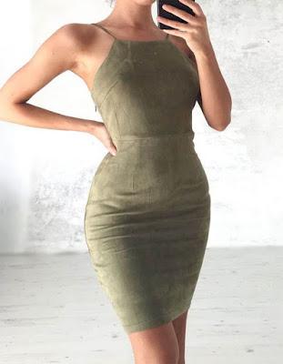 vestido verde pegado al cuerpo tumblr 2018