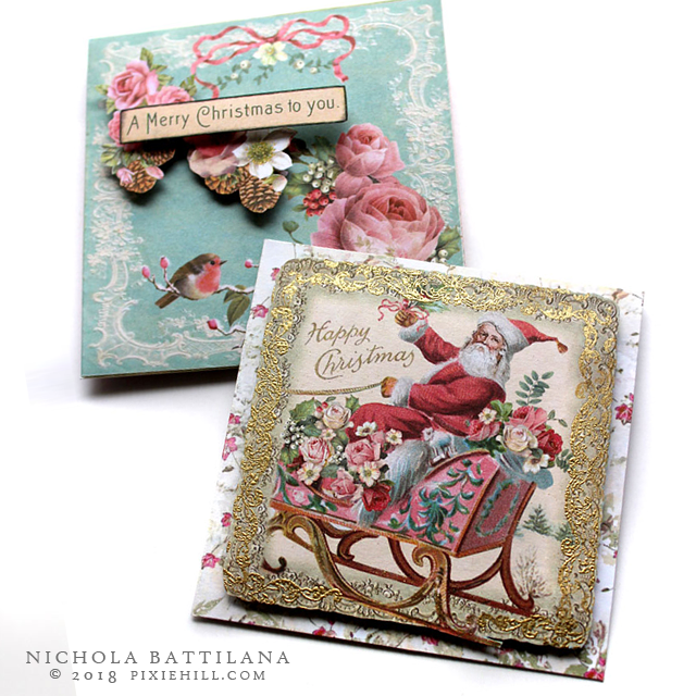 AlphaStamps.net Pretty Pink Christmas - Nichola Battilana