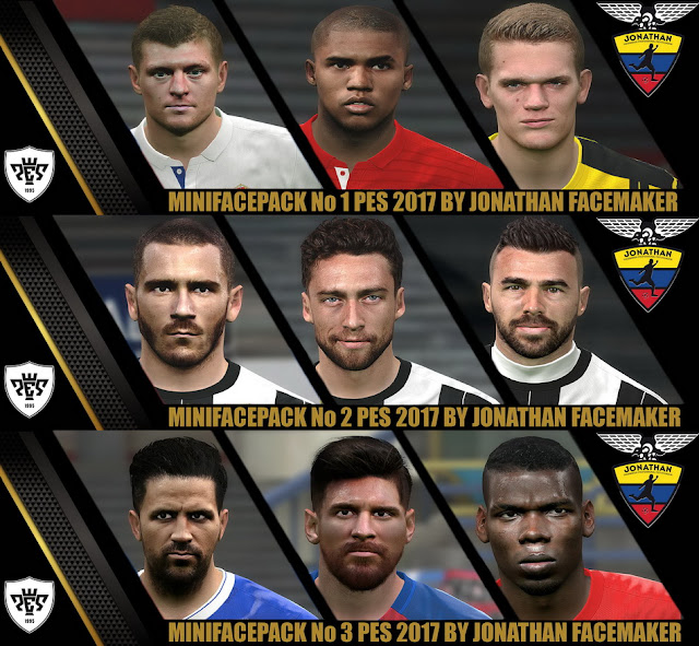 PES 2017 Mini Facepack by Jonathan Facemaker