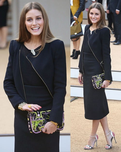 Sergio Rossi heels worn by stylish Olivia Palermo at the London Fashion Week