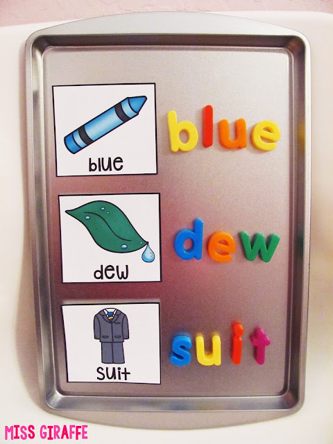 Use a magnetic cookie sheet from the dollar store to build words for teaching phonics