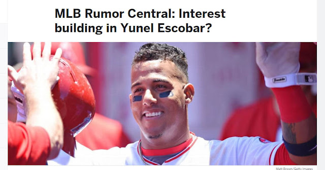 Yunel Escobar pudiera parar en Nueva York o San Francisco