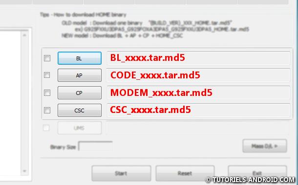 Flasher ROM stock avec Odin3