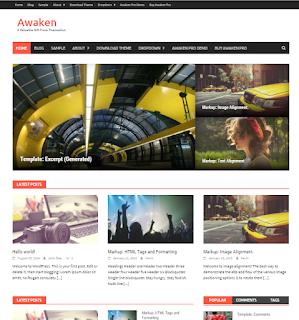 download awaken template wordpress responsive gratis