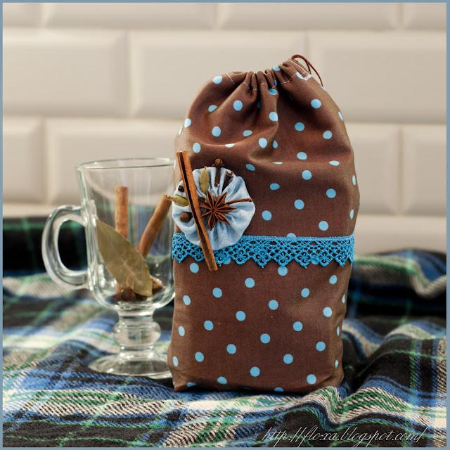 Мешочек для приправ, текстильний мешочек, чехол для пряностей, хранение приправ для глинтвейна, мешочек своими руками