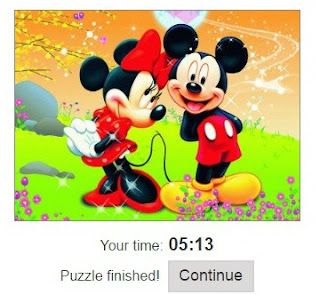 minnie, mickey, jigsaw puzzle