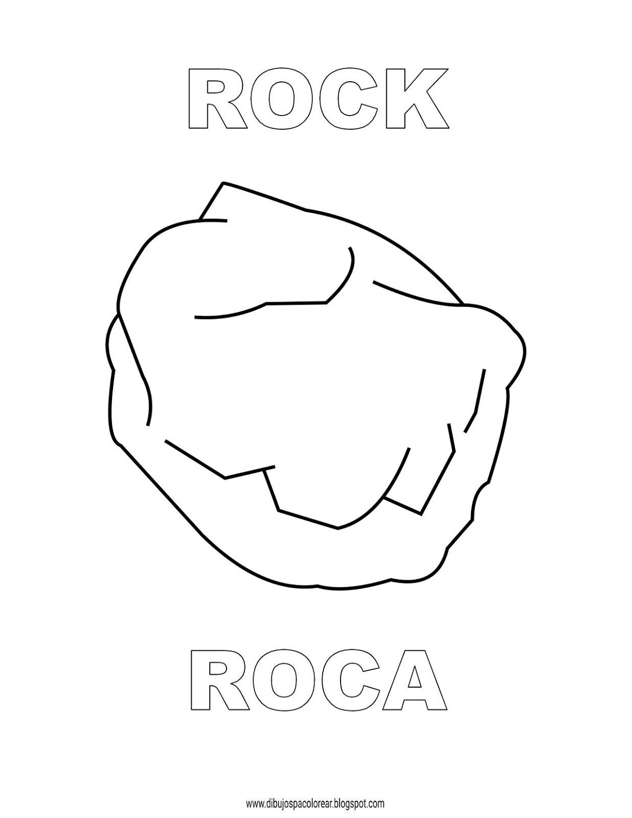 Dibujos Inglés Español Con R Roca Rock