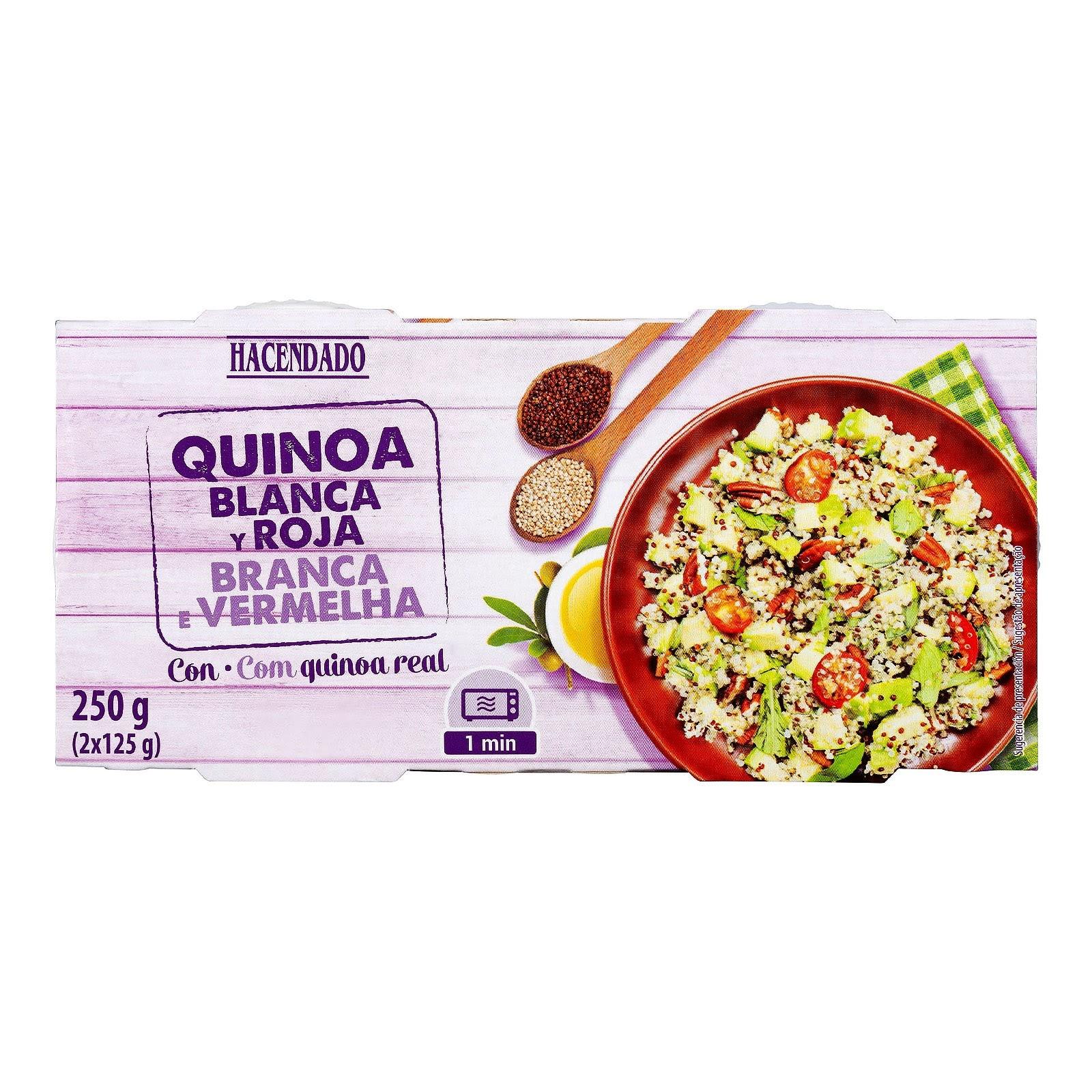 Quinoa cocida blanca y roja Hacendado