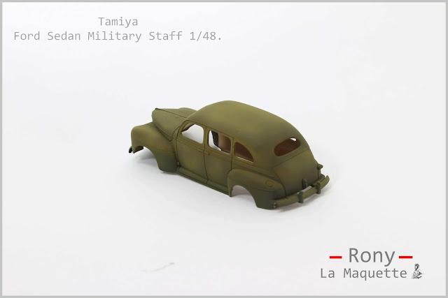 Montage pas à pas de la Ford Sedan U.S.Military Staff de Tamiya au 1/48.