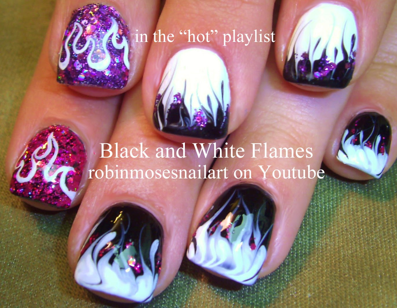 Robin Moses Nail Art Quot Flame Nails Quot Quot Nail Art Quot Quot Fire Nails