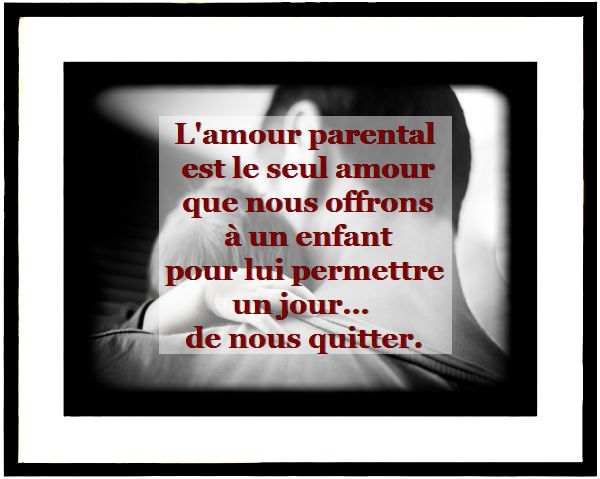 Citation amour parental en image