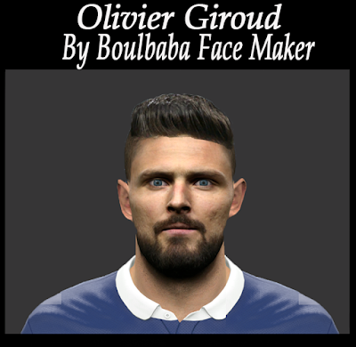 PES 2016 Olivier Giroud Face by Boulbaba Facemaker