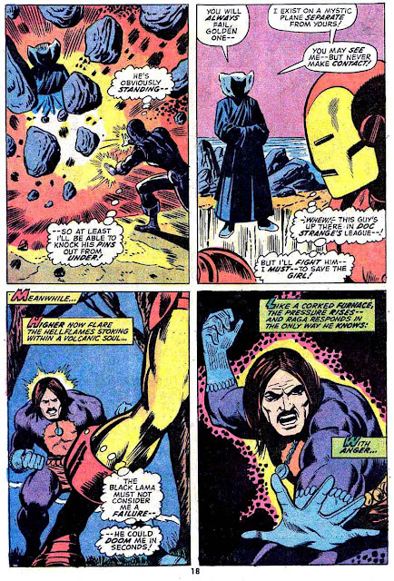 Iron Man v1 #53 marvel comic book page art by Jim Starlin