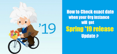 How to Check exact date when your Org instance will get Spring '19 release Update ?