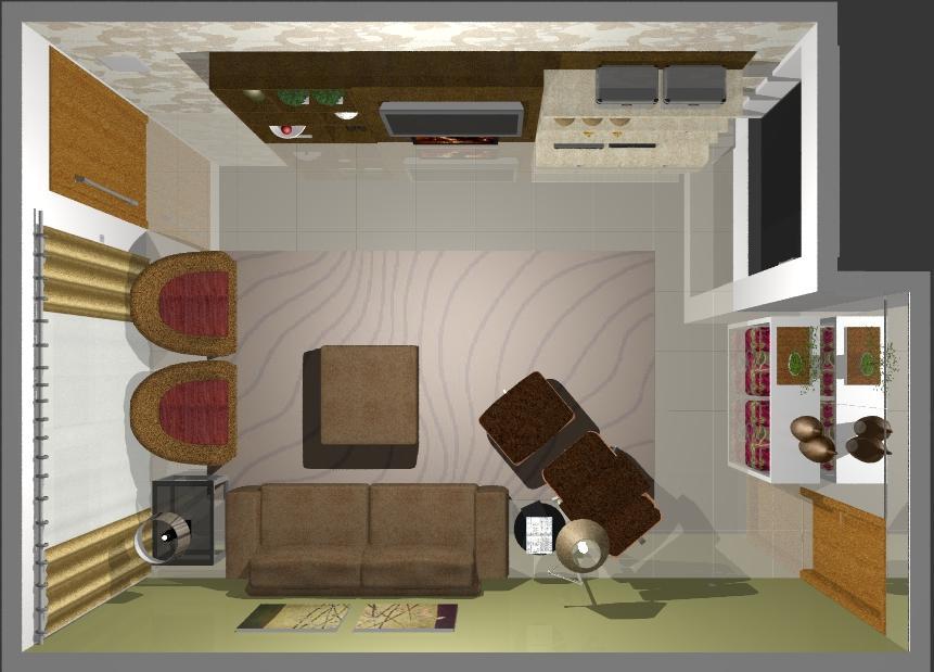 modelo de sala de estar