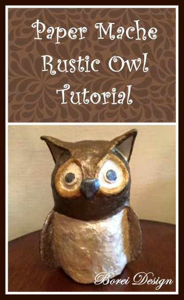 DIY Crafts Paper Mache Owl Tutroial How To Make