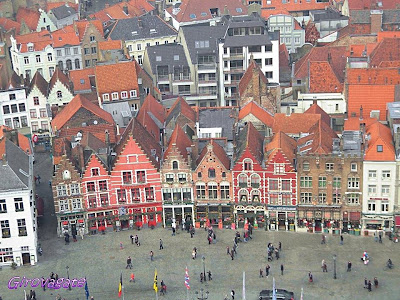 panorama Bruges Markt