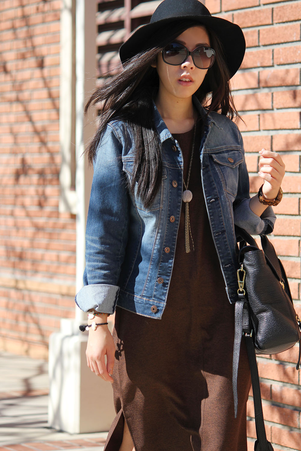 Adrienne Nguyen - Forever 21 Maxi with Jean Jacket from Nordstrom - Casual Boho Look