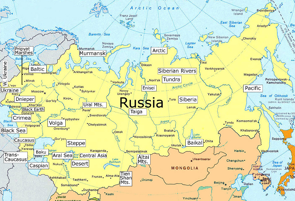Russia Map Maps Of Cities - Map of russia with cities