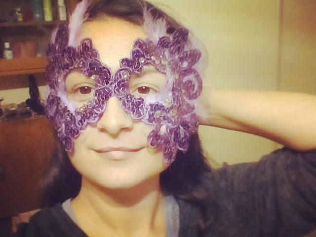 Din dantela si fulgi, am creat o masca pentru bal mascat / Halloween