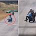 Dos motociclistas se pelean en plena carrera y uno pudo perder la vida [VIDEO]