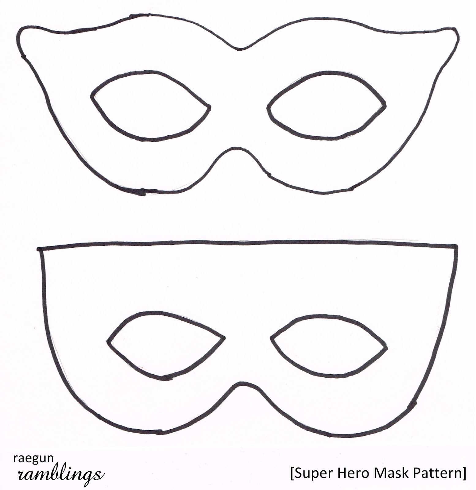 mask outline