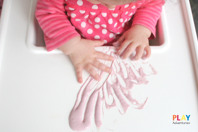 Messy play in the high chair