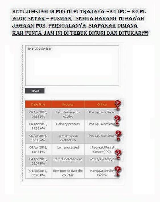 Pekerja Pos Malaysia Curi Jam GShock