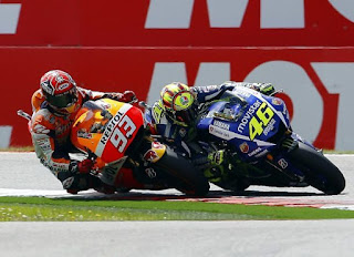 Sikap Rossi Jadi Kunci Kemenangan Marquez di MotoGP Jerman 2016