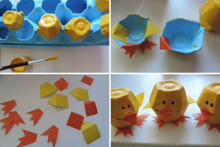 Várias sugestões divertidas para reciclar caixas de ovos.